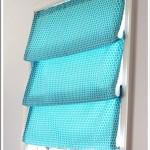 Бирюзовые римские шторы фото