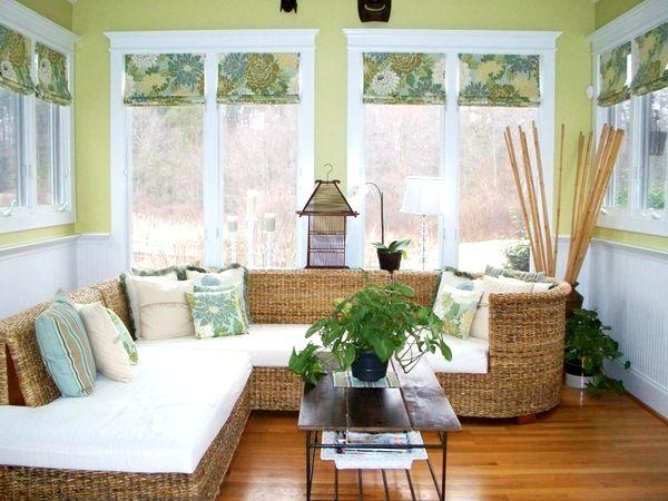 Зеленые шторы