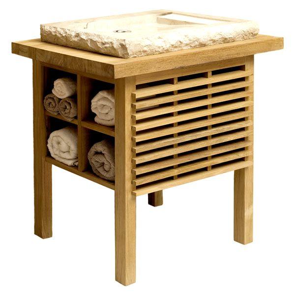 деревянная тумба под раковину