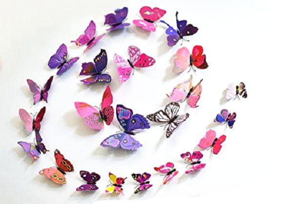 спираль из бабочек для украшения