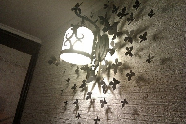 бабочки на стене своими руками