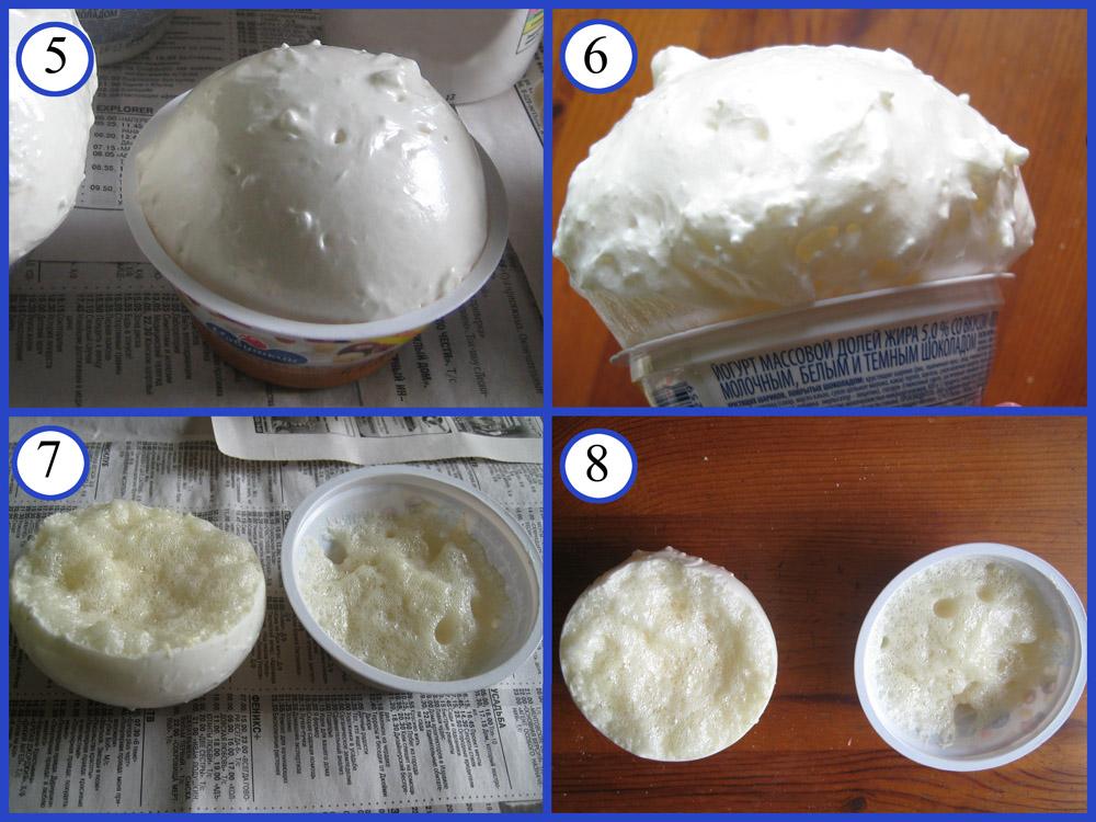 Изготовление шара для топиария из монтажной пены