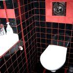 Фото 21: Красная затирка на черной плитке