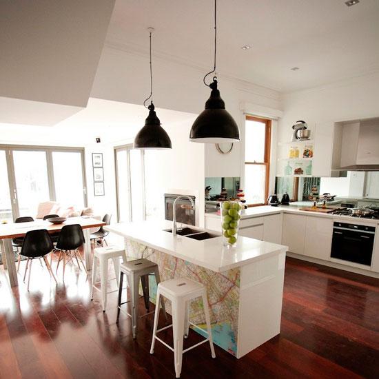 Элементы рисунка фотообоев можно использовать и для декорирования мебели