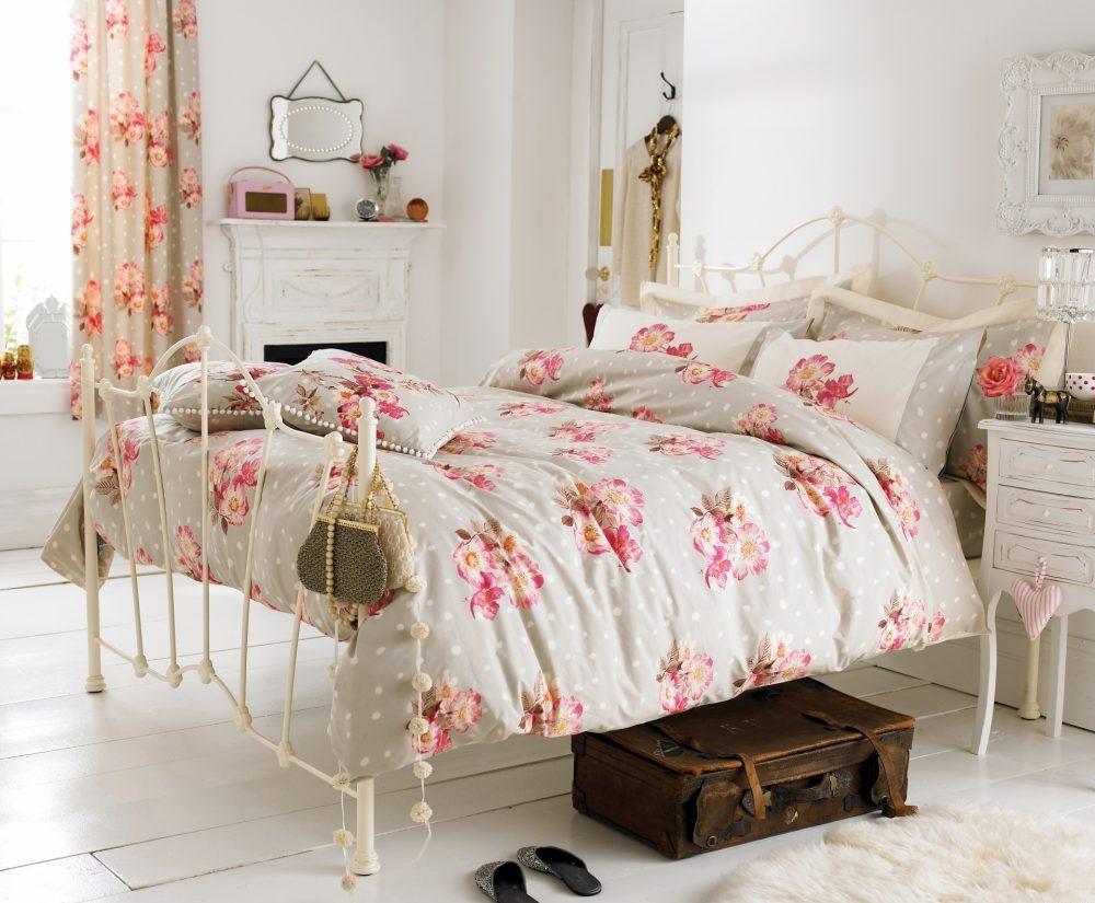 Дизайн спальни в стиле шебби-шик