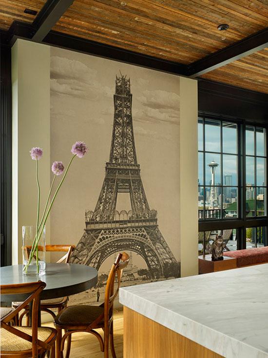 Фотообои с архитектурными изображениями для кухни
