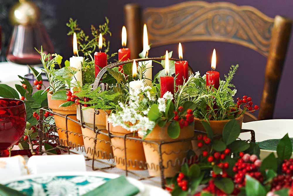 Украшение горшков с цветами к Новому Году