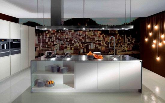 Фотообои для современной кухни