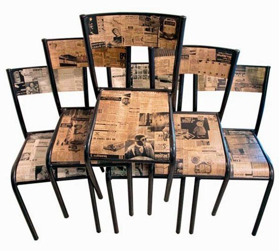 Отделка стульев в технике декупаж