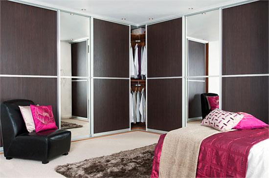 Деревянные раздвижные двери для шкафа-купе