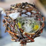 Фото 29: Топиарий в виде гнезда
