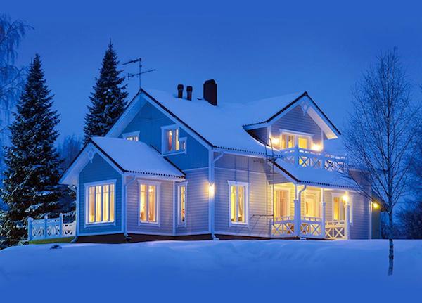 Утепленный пенопластом дом красивое фото