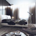 Фото 38: Мужская спальня в стиле хай-тек