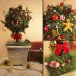 Фото 36: Рождественский топиарий