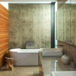 Фото 32: Панели в ванной под фанеру и вагонку