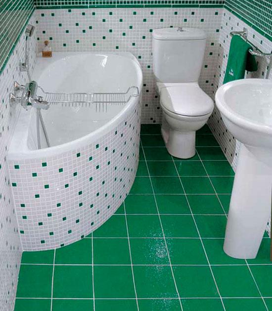 Иногда угловая ванна предпочтительнее классического варианта