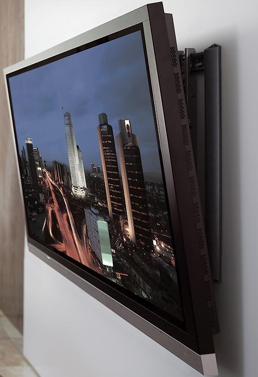 телевизор с кронштейном на стене