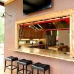 Барная стойка для кухни в окне