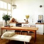 Барная стойка для кухни со скамейкой