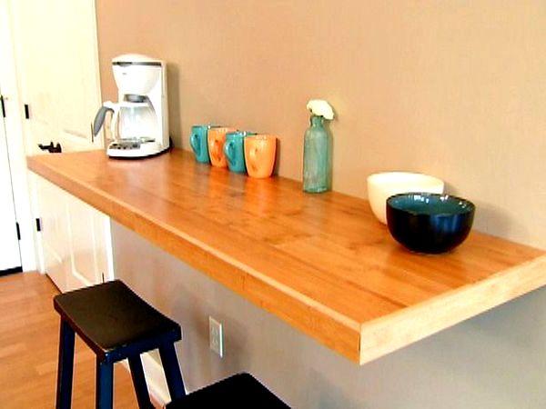 Барная стойка для кухни оранжевая