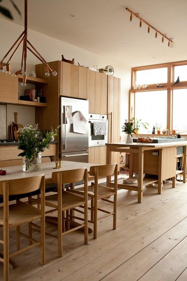 Деревянный японский стиль кухни