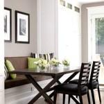 Фото 25: Стол на встроенной кухне