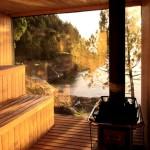 Фото 3: Баня с панорамным окном