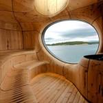 Фантастический интерьер бани