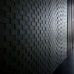 Фото 22: Черные обои в виде квадратов