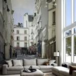 Фото 40: Фотообои для гостиной в виде улицы