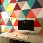 Цветные яркие обои в кабинет