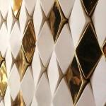 Фото 10: Золотой кафель для ванной комнаты