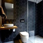 Фото 12: Темно-серый кафель для ванной комнаты