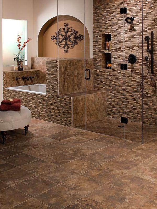 Коричневый кафель для ванной комнаты фото