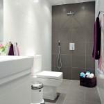 Фото 5: Серо-белый кафель для ванной комнаты