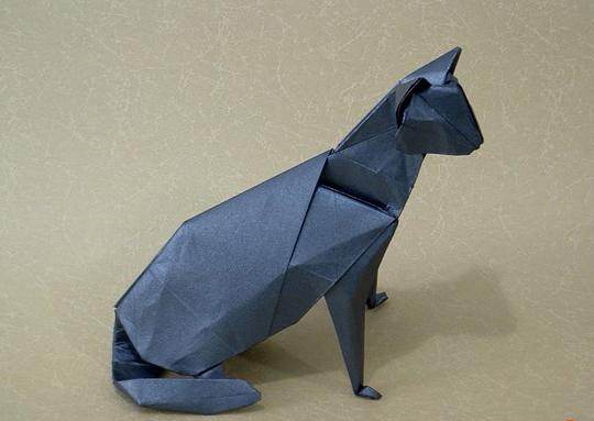 как сделать кошку из бумаги