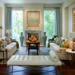 Фото 30: Мягкая мебель для гостиной фото с мягким столом