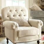 Фото 51: Светлое мягкое кресло для гостиной