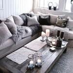 Фото 62: Тёмно-серый диван в гостиной