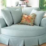 Фото 7: Бирюзовый круглый диван