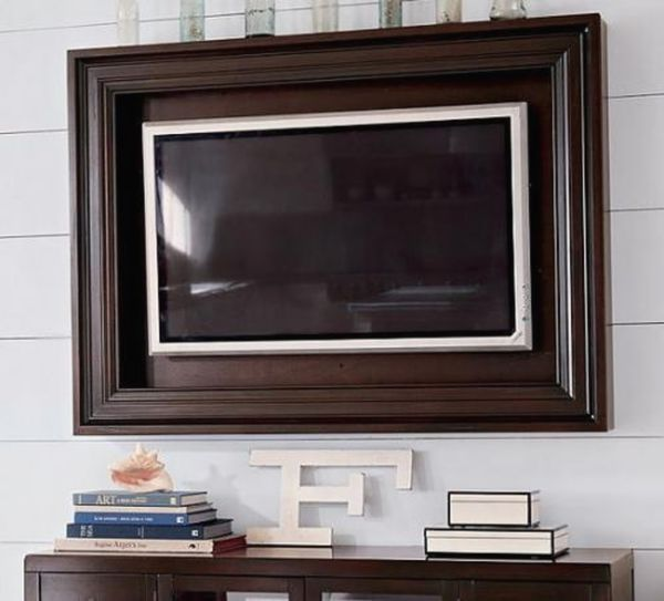 Оригинальное обрамление телевизора рамкой