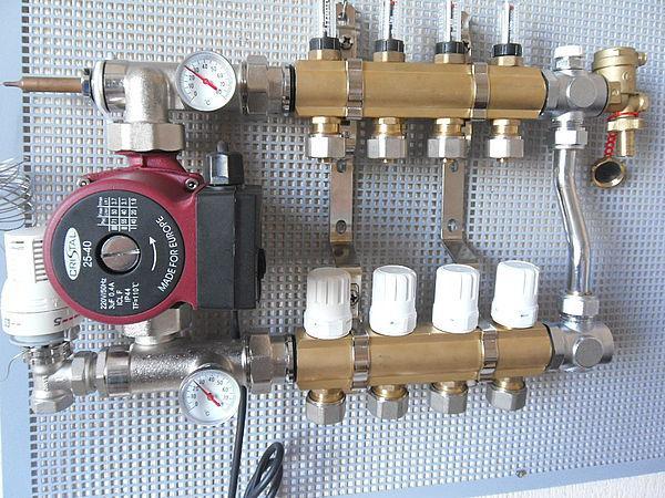 Схема включения смесительного узла для теплого пола
