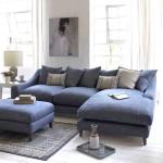 Фото 16: Синий диван в гостиной