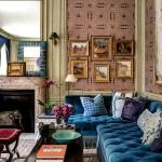 Фото 20: Синий угловой диван