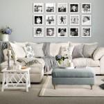 Фото 4: Угловой диван в гостиной в стиле прованс