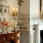 Фото 292: Фреска в гостиной черно-белая
