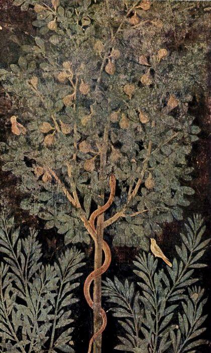 Фреска в виде дерева