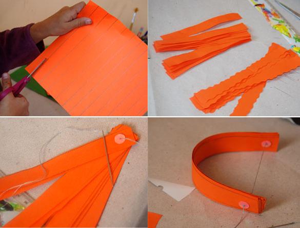 Сделать тыкву из бумаги