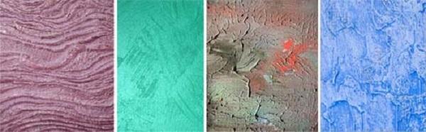 Различные рельефы краски