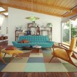Очень красивая комната с современной мебелью и стильным ковровым покрытием